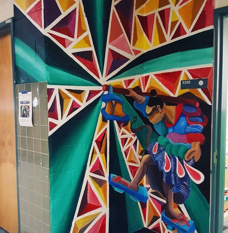 """The Hermit"" Acrylic Mural Commission at Robinson Secondary School"